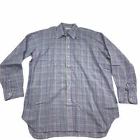 Bullock & Jones Mens Long Sleeve Button Down Shirt Blue Multi Color Striped XL