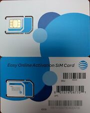 new AT&T  GO PHONE  4G LTE sim. UNACTIVATE, ALL SIZE IN ONE sim . 3IN1