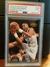 1992-93 Stadium Club Members Only Alonzo Mourning Rookie Card #209 PSA 9 Mint