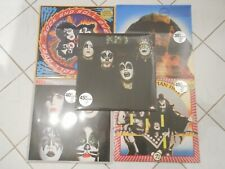 5 colored KISS-records in perfect condition! SOLD OUT and RARE! still sealed,m/m