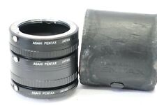 Genuine Asahi Pentax K mount Macro extension tubes, No.1,2 & 3, PK camera/lens