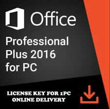 Microsoft Office 2016 Professional Plus 32/64 bit License Key Lifetime 1 PC