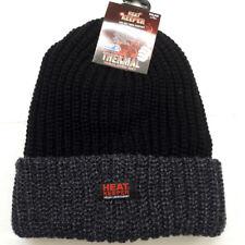 Thermo Winter Mütze mit Umschlag EXTREM WARM Heat Keeper TOG  3,4 schwarz grau