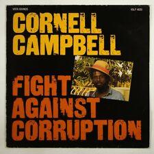 "Cornell Campbell ""Fight Against Corruption"" Reggae LP Vista Sounds France"