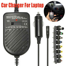 80W DC Auto Car Charger Adjustable Power Supply Adapter Set Laptop Notebook CAO
