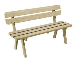 Gartenbank Möbel Garten Bank Holz 150 cm breit Kiefer massiv 35mm Imprägniert