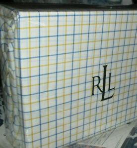 RALPH LAUREN Full Sheet Set 4P BLUE YELLOW PLAID Cotton