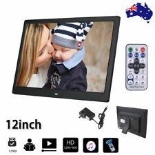 12'' HD 1080P LED Digital Photo Picture Frame Movie Player Remote Control AU