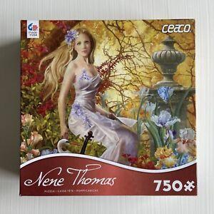 Ceaco NENE THOMAS Art 750 Piece JIGSAW PUZZLE LOST MELODY Woman Flowers