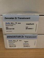 Wieland Zenostar ZR medium light CAD CAM Transluzent Zirkon Zirkonia NEU, Dental