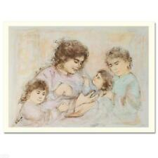 "Edna Hibel ""Marilyn & Children"" Hand Signed Limited Edition Lithograph Art"