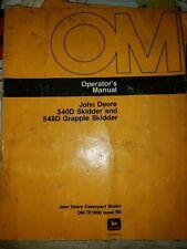 JOHN DEERE 540D 548D  SKIDDER OPERATORS MANUAL OM-T81890