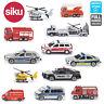 SIKU Miniature Scale 1:87 Diecast Model Emergency Police Fire Engines Toys