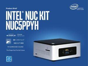 Intel NUC Kit NUC5PPYH N3700 Quad Core 4GB RAM 120GB SSD HDMI WiFi 4K