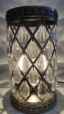 Vintage Moroccan Brass Colour Metal with AntiqueGlass Droplet Lamp NEW