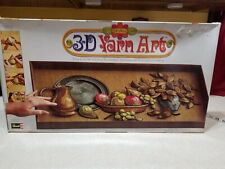 "Vintage Revell 3-D Yarn Art Craft "" Autumn Table� Picture size 12�X 24�"