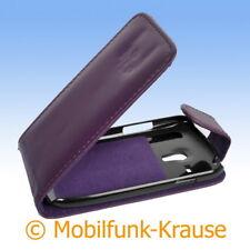 Flip Case Etui Handytasche Tasche Hülle f. Samsung Galaxy S 3 Mini (Violett)