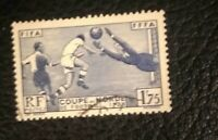 1938 France Scott #349 - 1.75fr FIFA World Cup Soccer Championship Stamp - Used