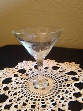 "1-Liquor Cocktail Sasaki Crystal Wheat Pattern 4"" Stemware Smooth Stem Holds 3oz"