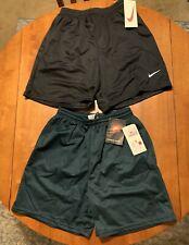 Nike Mesh Vintage Blue Pine Green Running Shorts Lot Size Large