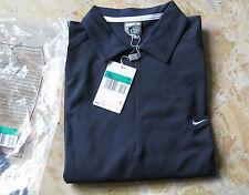 NIKE FIT DRY,Tennis-Herren-Hemd,Kurzarm,Gr.M,NEU+Etikett,Schwarz,weiße Einsätze