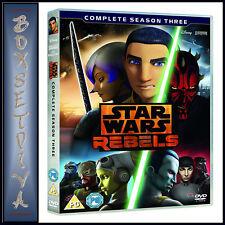 STAR WARS REBELS - COMPLETE SEASON 3 - THIRD SEASON  ***BRAND NEW DVD****