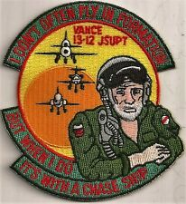 USAF VANCE CLASS 13-12 PATCH -  'I DON'T OFTEN FLY IN FORMATION......'     COLOR