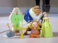 Disney BELLE & BEAST CAKE TOPPERS Beauty Princess PVC Figures Be Our Guest Lot 5