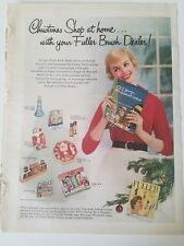 1955 Fuller brush dealer Christmas shop at home gift catalog suggestions ad