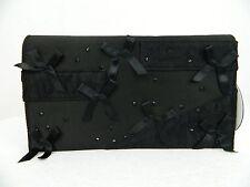 NWT Prabal Gurung Target Neiman's Black Ribbon Lace Embellished Clutch Purse