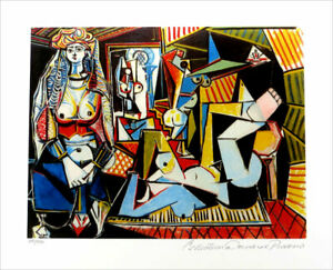 Pablo Picasso Women Of Algiers Limited Edition Signed Giclee 13 x 20