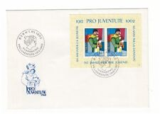SWITZERLAND HELVETIA PRO JUVENTUTE 1962 CHILDRENS FUND MINISHEET FIRST DAY COVER