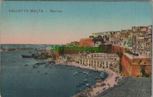 Malta Postcard - Valletta Marina   RS25111