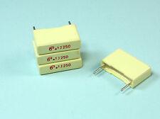 25pcs .1uf 250V Metallized Box Film Capacitor, 5% Tolerance