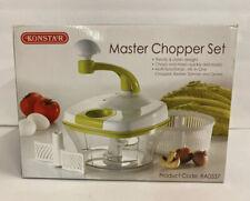 KONSTAR Multi Master Chopper Set Slicer Food Processor Mince Chop Slicer Blender