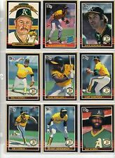 85 Donruss Baseball, 26 Oakland Athletics NrMt Henderson, Morgan, Kingman etc