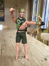 """Action Man plastic model figure with antler crossbow camouflage 12"""" high"""