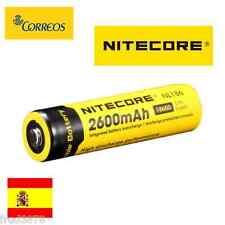 PILA BATERIA RECARGABLE NITECORE 18650 2600mAh Li-ion 3,7V Litio Protección PCB