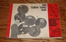 1989 Ford Tempo / Topaz Wiring Diagram EVTM Manual 89