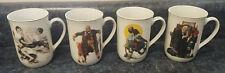 Vintage Norman Rockwell Coffee/Tea Mugs (Set Of 4)