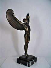 Metall Figur IKARUS bronziert handgefertigt H 34,5 cm neu. griechische Skulptur