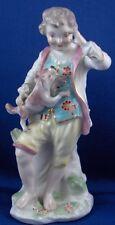 Rare 18thC Derby Porcelain Boy w/ Dog Figurine Figure English England Porzellan