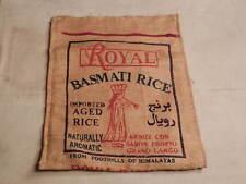 Royal Basmati Rice Burlap Bag 6 India