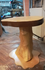 Table natural wood. Coffee table handmade.Epoxy coating, yacht varnish.