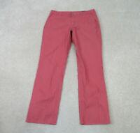 Bonobos Pants Mens 34 Pink Red Khaki Casual Slacks Monday Preppy 34x32 B15*