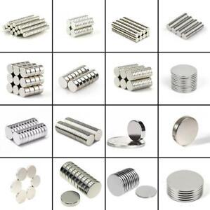 ★TheQ★ Neodym Supermagnet Scheibenmagnete Starke Magnete Ø2-Ø100 mm 60 Modellen
