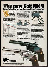 1982 COLT Trooper MK V Double Action .357 Magnum Revolver PRINT AD Advertising*