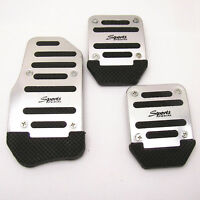 3 Pcs Nonslip Car Auto Vehicle Accelerator Brake Clutch Foot Pedal Mat Pad Cover