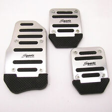 3 Pcs Nonslip Car Auto Vehicle Accelerator Brake Clutch Foot Pedal Mat Pad Cover