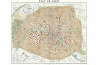 Paris, France; 1892 Hachette Map; Lovely First Quality Antique Reproduction